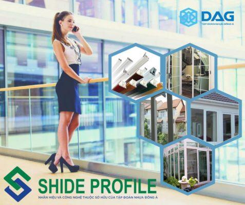 Shide profile, Sea alpha profile, thanh nhựa profile, cua nhua cao cap, cua nhua loi thep cao cấp