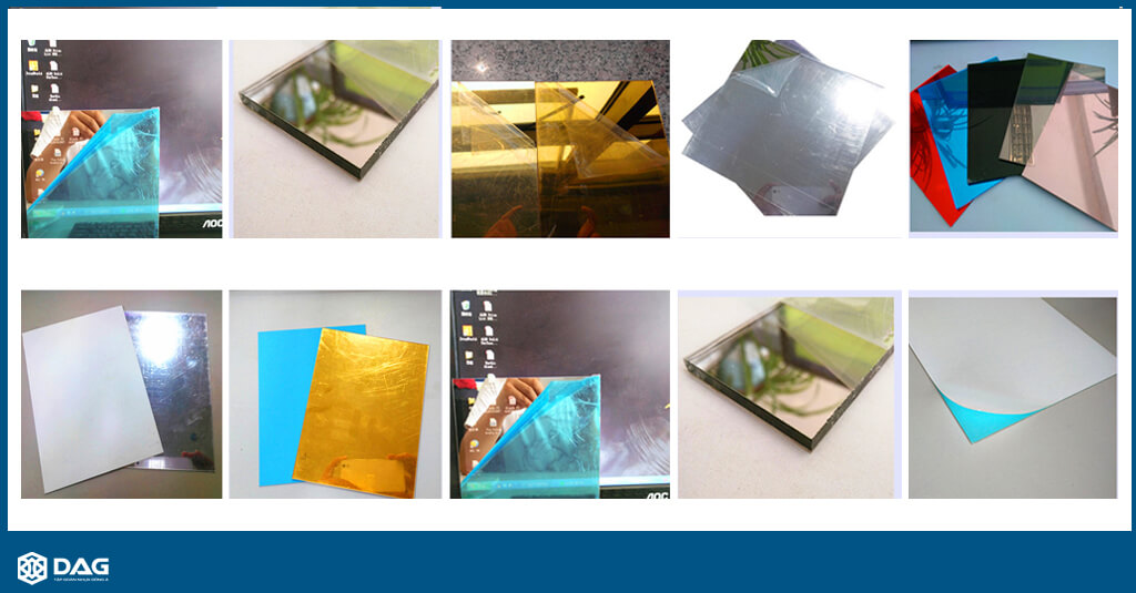 các loại tấm nhựa mica trong mica màu tấm mica dag tập đoàn nhựa đông á