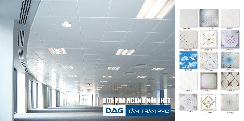 Tấm trần thả PVC của DAG với những tính năng ưu Việt