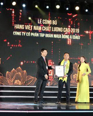 DAG đạt danh hiệu Hàng Việt Nam chất lượng cao 2019 2