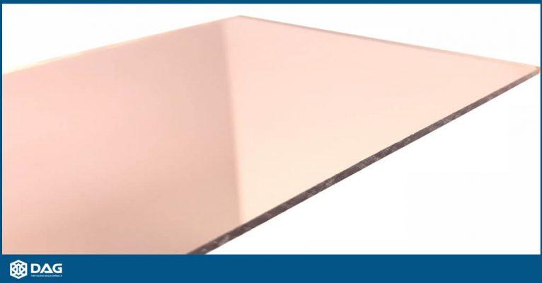 Mica gương vàng hồng - 2mm 3mm DAG