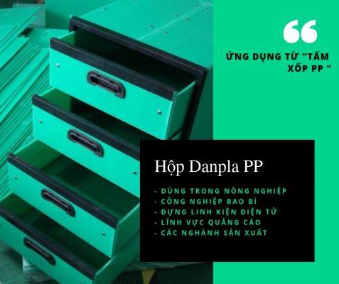 Thùng danpla -Tấm lót pp - màu xanh- xốp pp DAG - Tập đoàn nhựa đông á