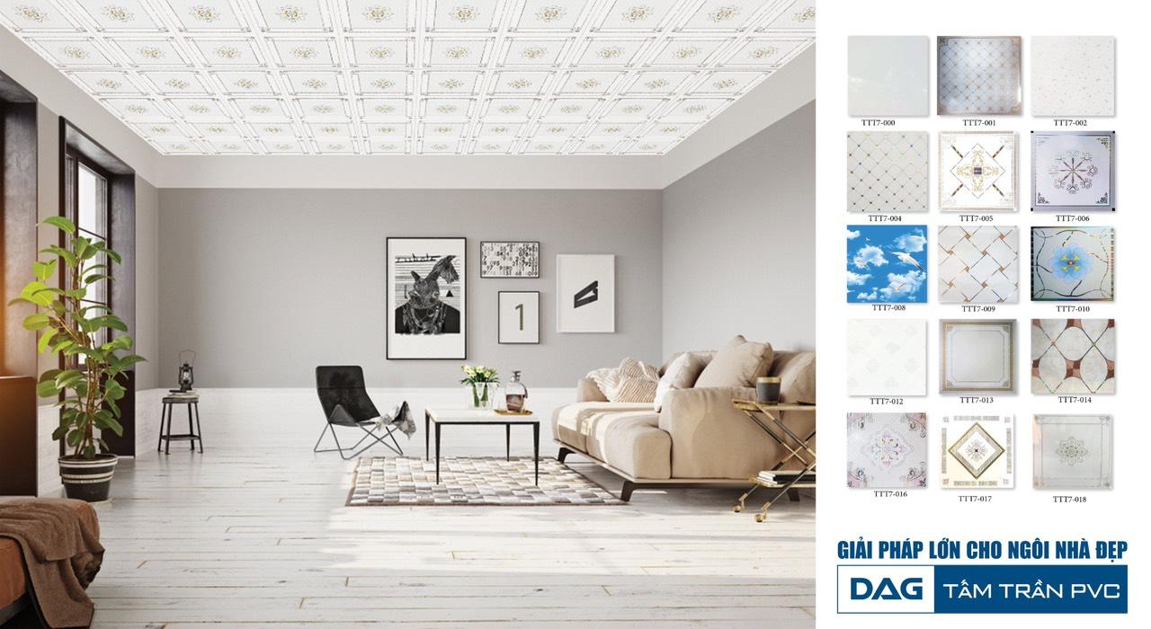 Nhựa Đông Á (DAG) có nhiều dòng sản phẩm nổi tiếng trong đó kể đến Tấm trần thả PVC – Giải pháp lớn cho ngôi nhà đẹp