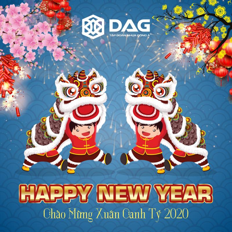 Nhựa Đông Á DAG chúc tết dương lịch 2020