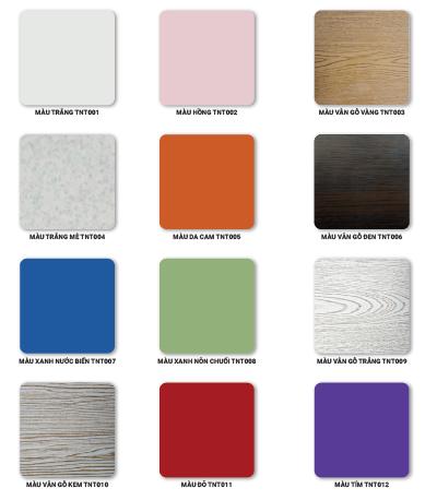 Tấm tủ nhựa đa dạng màu sắc