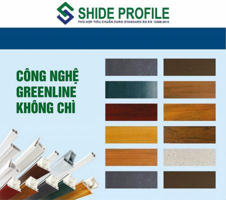 Thanh nhựa Shide profile không chì