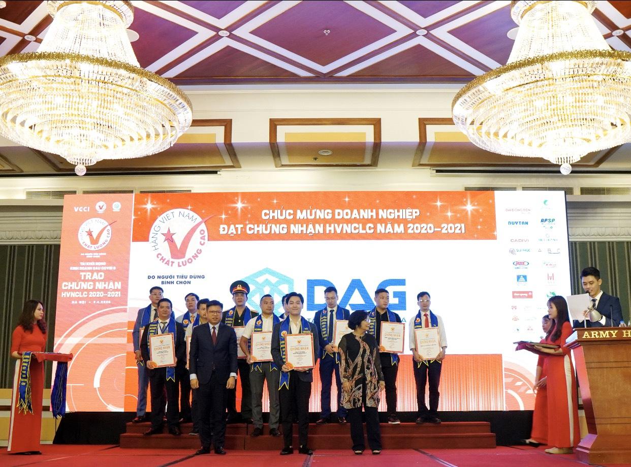 DAG vinh dự đón nhận Hàng Việt Nam chất lượng cao 2020