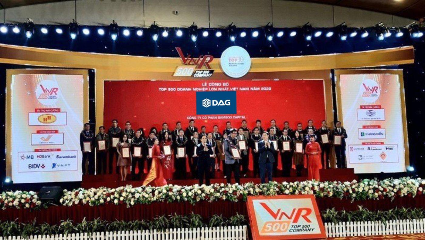 Công ty Cổ phần Tập đoàn Nhựa Đông Á (DAG) tiếp tục vinh dự nằm trong TOP 500 doanh nghiệp lớn nhất Việt Nam